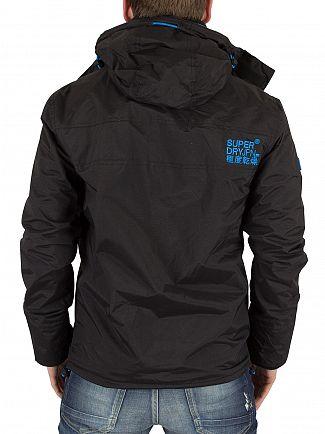 Superdry Black/Denby Blue Pop Zip Hooded Arctic Windcheater Jacket