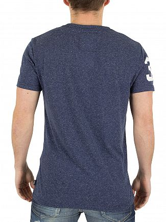 Superdry French Navy Snow Shirt Shop Graphic T-Shirt