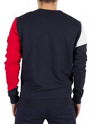 Tommy Hilfiger Navy Blazer Diagonal Segments Sweatshirt