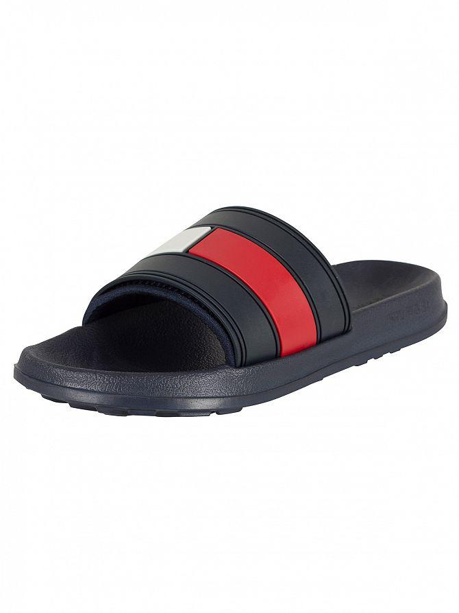Tommy Hilfiger Red/White/Blue Slider Flip Flops