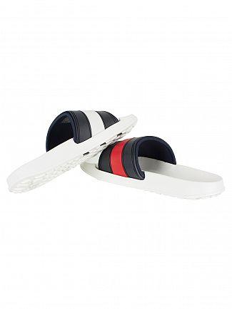 Tommy Hilfiger White Slider Flip Flops