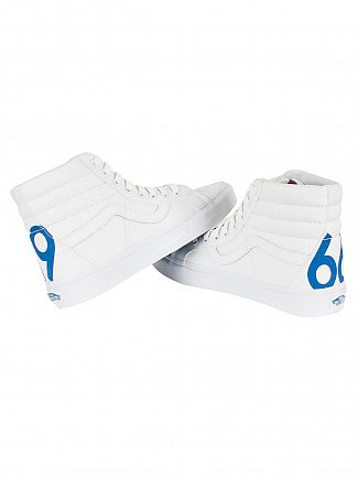 Vans True White/Blue Sk8-Hi 1966 Reissue Trainers