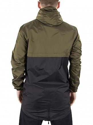 11 Degrees Khaki Over The Head Fishtail Logo Panel Jacket