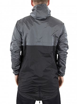 11 Degrees Grey Over The Head Fishtail Logo Panel Jacket