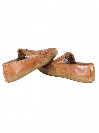 Base London Tan Stage Weave Loafers