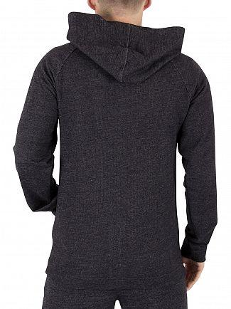 Calvin Klein Black Full Zip Vertical Logo Hoodie
