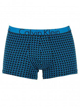 Calvin Klein Blue Pulse ID Geo Square Logo Trunks