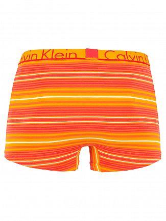 Calvin Klein Orange Rogue ID Summer Stripe Logo Trunks