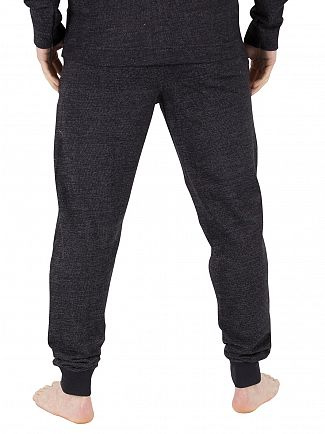 Calvin Klein Black Vertical Logo Jogger Pyjama Bottoms