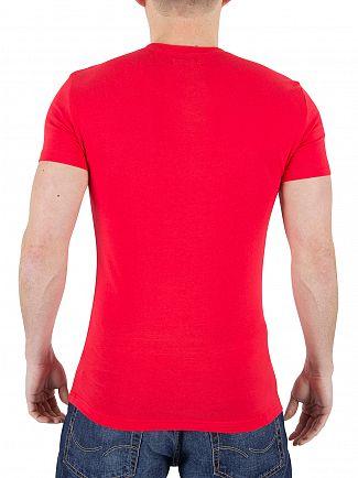 Emporio Armani Red Logo T-Shirt
