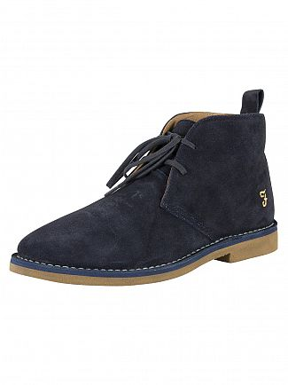 Farah Vintage Navy Lozza Suede Shoes