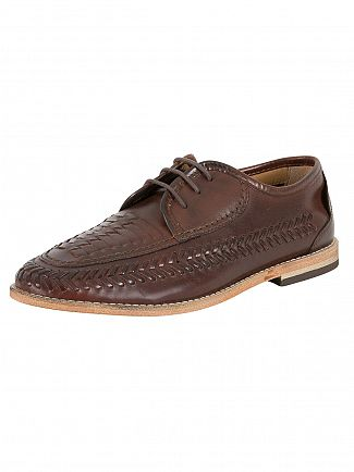 H by Hudson Cognac Anfa Calf Shoes