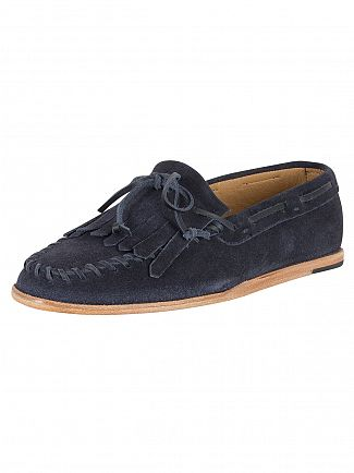 H by Hudson Navy Manuel Suede Loafers