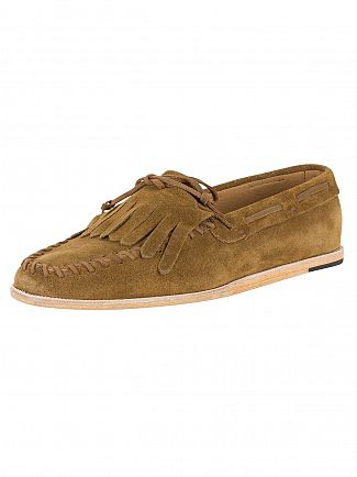 H by Hudson Tobacco Manuel Suede Loafers