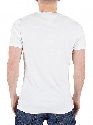 Tommy Hilfiger Denim Classic White Basic CN USA Graphic T-Shirt