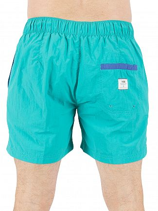 Tommy Hilfiger Denim Viridian Green Basic Solid Logo Swimshorts