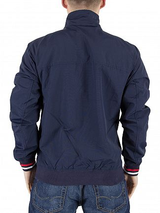Tommy Hilfiger Denim Black Iris/Multi Diagonal Panel Logo Bomber Jacket