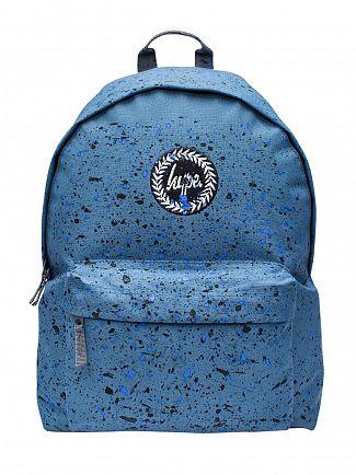 Hype Airforce Blue/Blue/Black Speckle Logo Backpack