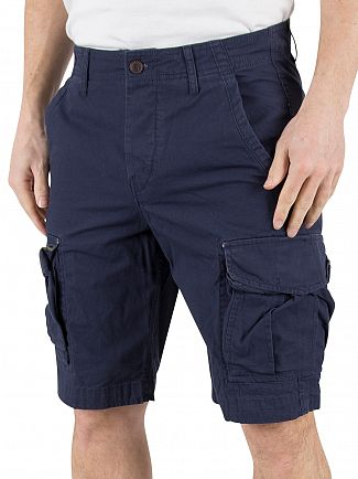 Jack & Jones Navy Blazer Preston AKM 216 Comfort Fit Cargo Shorts