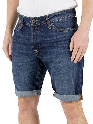 Jack & Jones Blue Denim Rick Original 103 Regular Fit Shorts