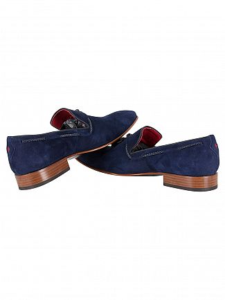Jeffery West Ante Dark Blue/Cabra Dark Blue Jung Suede Shoes