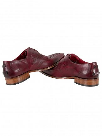 Jeffery West Toledo Burgundy Scarface Leather Shoes