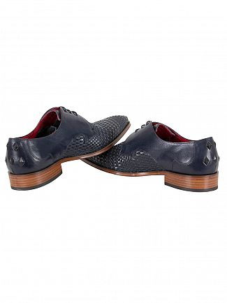 Jeffery West Pasados Dark Blue/Tequila Dark Blue Scarface Leather Shoes