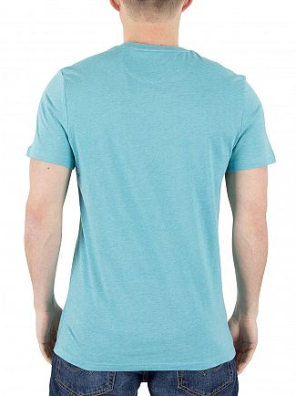 Lyle & Scott Aqua Green Marl Logo T-Shirt