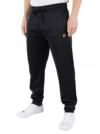 Lyle & Scott True Black Tricot Logo Joggers