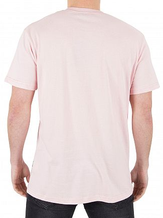 Nicce London Pink Chest Logo T-Shirt