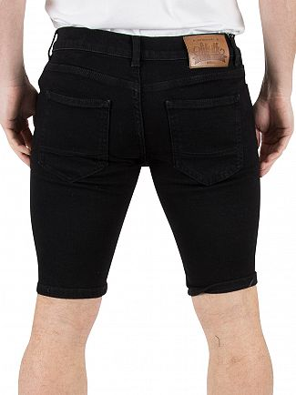 Sik Silk Black Distressed Ripped Denim Shorts