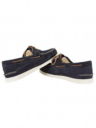 Sperry Top-Sider Navy A/O Wedge Suede Boat Shoes