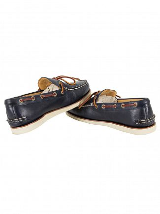 Sperry Top-Sider Navy Gold A/0 1 Eye Wedge Boat Shoes