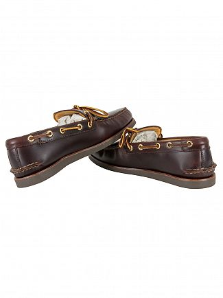 Sperry Top-Sider Amaretto Gold Cup 1-Eye Wedge Boat Shoes