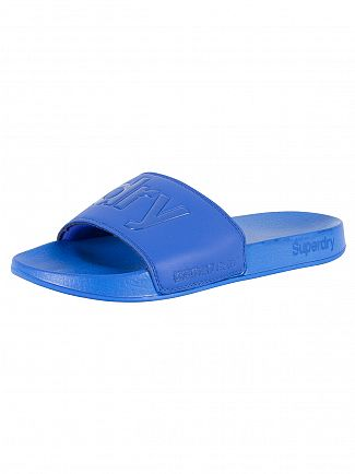 SUPERDRY NAUTICAL BLUE POOL SLIDE LOGO FLIP FLOPS