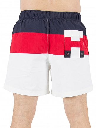 Tommy Hilfiger Classic White Colorblock Logo Swimshorts