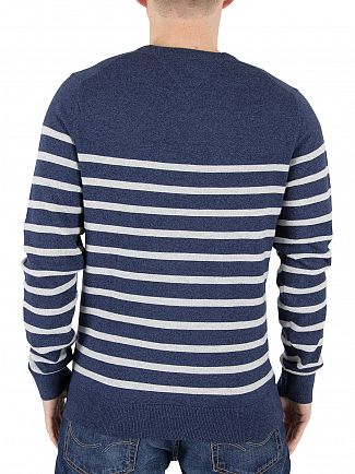 Tommy Hilfiger Nautical Blue Heather Naz Striped Knit