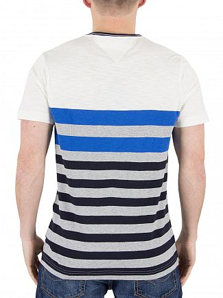 Tommy Hilfiger Snow White/Multi Niels Striped T-Shirt