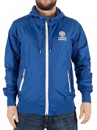 Franklin & Marshall Olympic Blue Logo Zip Mesh Jacket
