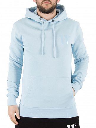 11 Degrees Light Blue Core Pull Over Logo Hoodie