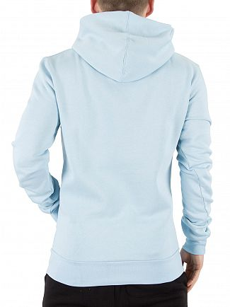 11 Degrees Light Blue Core Pull Over Logo Hoodie