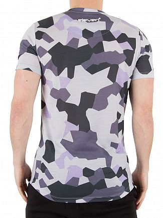 11 Degrees Camo Lilac Geo Logo T-Shirt