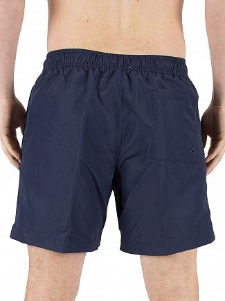 Calvin Klein Blue Shadow Medium Vertical Logo Swimshorts