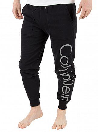 Calvin Klein Black Vertical Logo Pyjama Bottoms