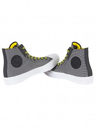 Converse Black/White/Fresh Yellow CTAS II HI Trainers