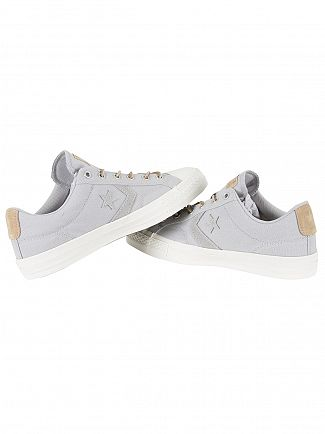Converse Ash Grey/Vintage Khaki/Sand Star Player OX Trainers