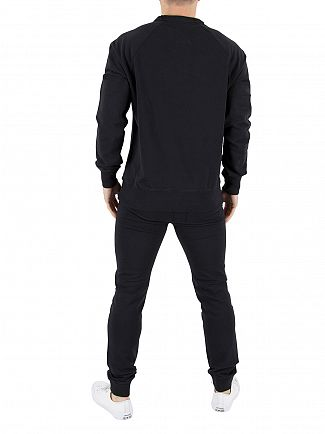 Franklin & Marshall Black Chest Logo Sweatshirt Tracksuit