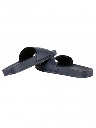 Franklin & Marshall Navy Logo Slider Flip Flops