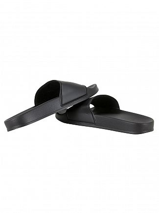 Franklin & Marshall Black Logo Slider Flip Flops