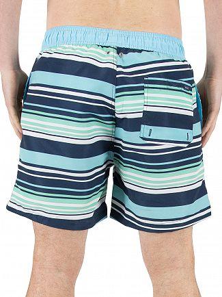 Gant Topaz Blue Multistripe Classic Logo Swim Shorts
